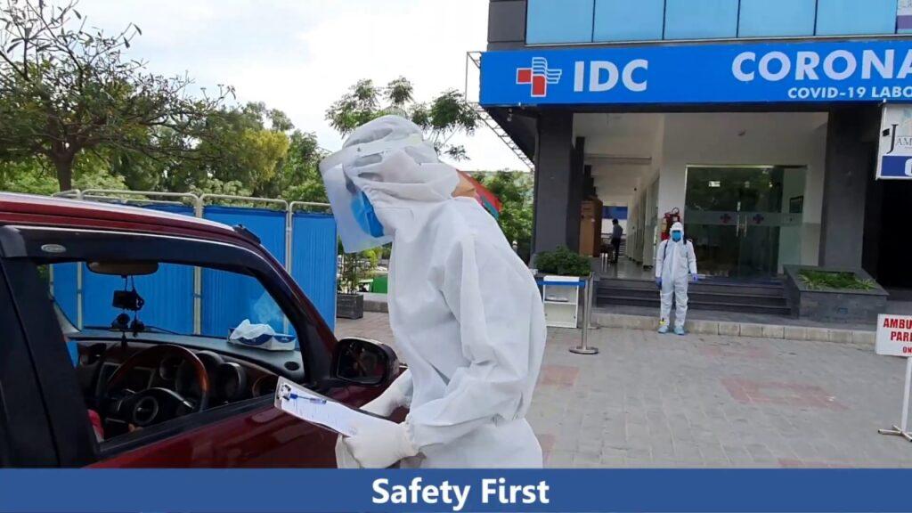 Drive through vaccination center